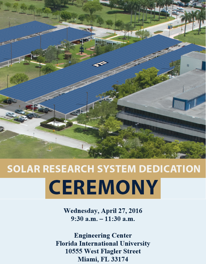 FIU-FPL Solar Research Facility Unveiling Ceremony